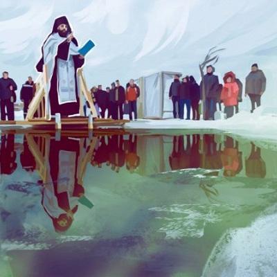 На крещенские церковные службы в этом году пойдут 16% россиян или каждый шестой