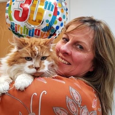 Самый старый кот в мире умер в Англии