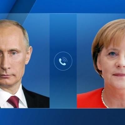 Владимир Путин обсудил с канцлером Германии Ангелой Меркель ситуацию в Донбассе