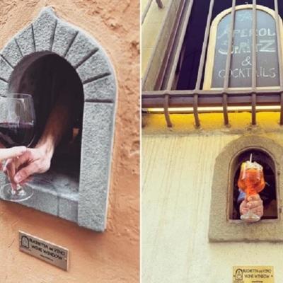 В Италии стали продавать вино через чумные винные окна