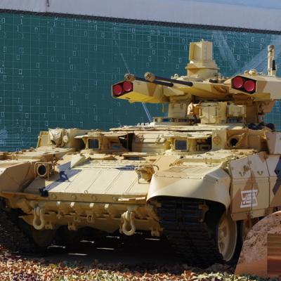 Путин осмотрел боевые машины поддержки танков