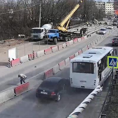 В Рязани пассажирский автобус протаранилсемь автомобилей