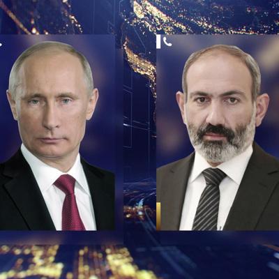 Путин поздравил Никола Пашиняна с назначением на пост премьер-министра Армении