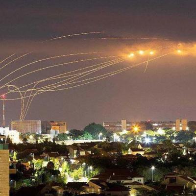 Палестинское движение ХАМАС этой ночью предприняло обстрел территории Израиля