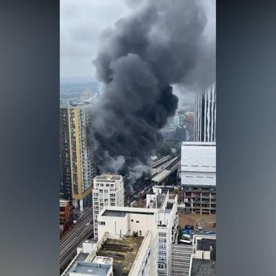 В центре Лондона произошел крупный пожар