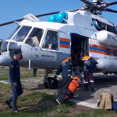 Ми-8 упал в Кроноцком заповеднике на Камчатке