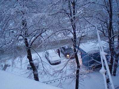 В Балашихе из-за обрушения крыши ангара от тяжести снега побило 20 машин