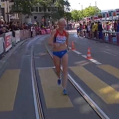 Россиянка Афанасьева дисквалифицирована во время ходьбы на 20 км на ЧМ в Лондоне