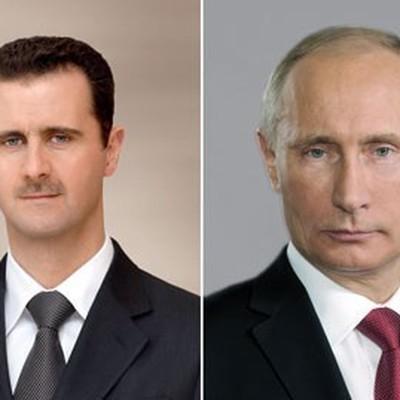 Путин поздравил Асада с 75-летием дипломатических отношений между странами