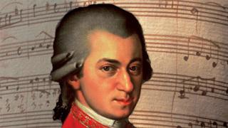 Австрийский композитор Вольфганг Амадей Моцарт (Wolfgang Amadeus Mozart).