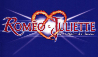 "Постер к французскому мюзиклу Жерара Пресгюрвика (Gérard Presgurvic) ""Ромео и Джульетта"" (""Roméo et Juliette, de la haine à l'amour"")."