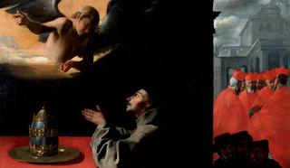 Святой Бонавентура.  Художник Ф. Сурбаран. 1640-1650