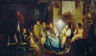картина Бабушкины сказки. 1867