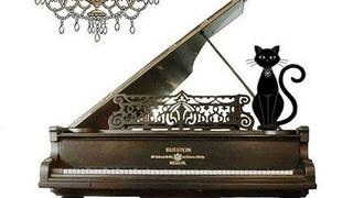 Кот на рояле. Художник Jane Crowther.