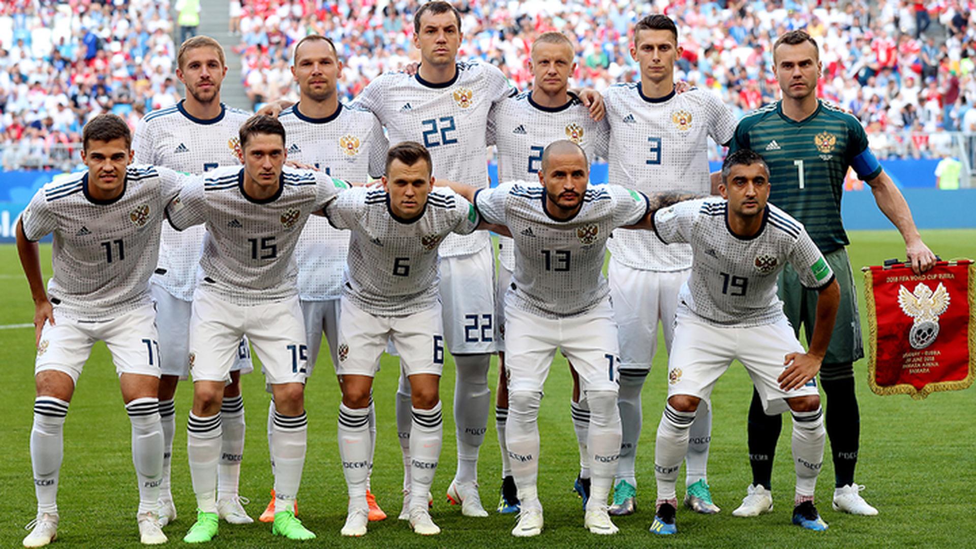 Игроки сборной России обратились к болельщикам перед матчем с Испанией
