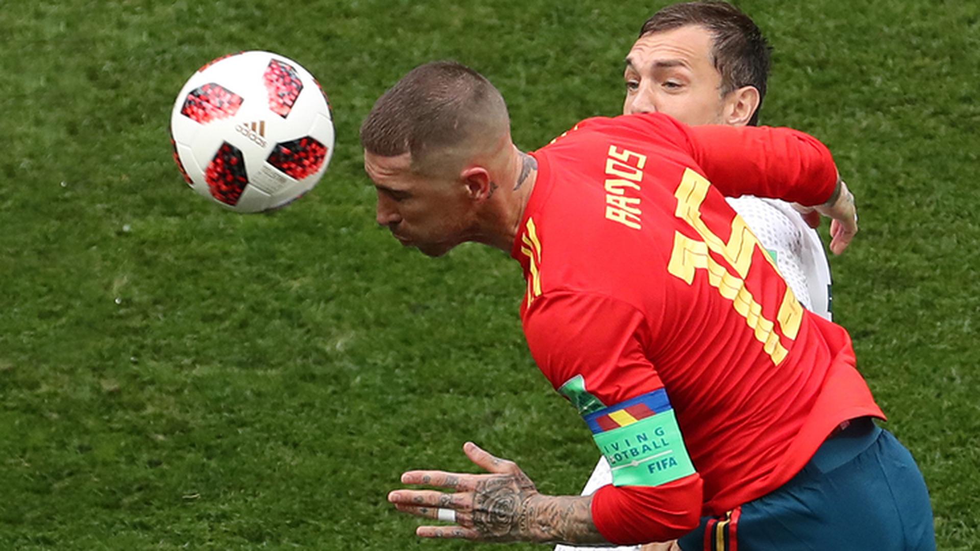 Реакция испанских футболистов на проигрыш россиянам
