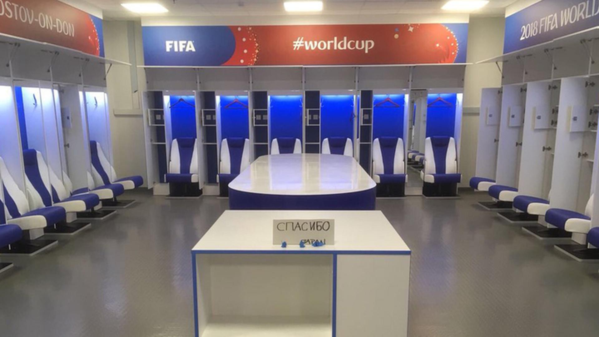 Японские футболисты убрались в раздевалке и поблагодарили россиян за гостеприимство