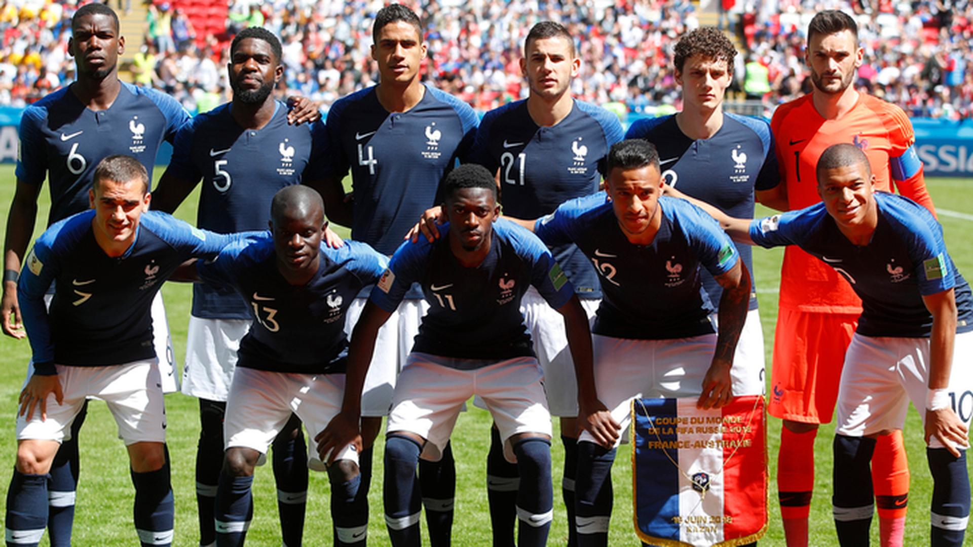 Французы объявили стартовый состав на финал с Хорватией