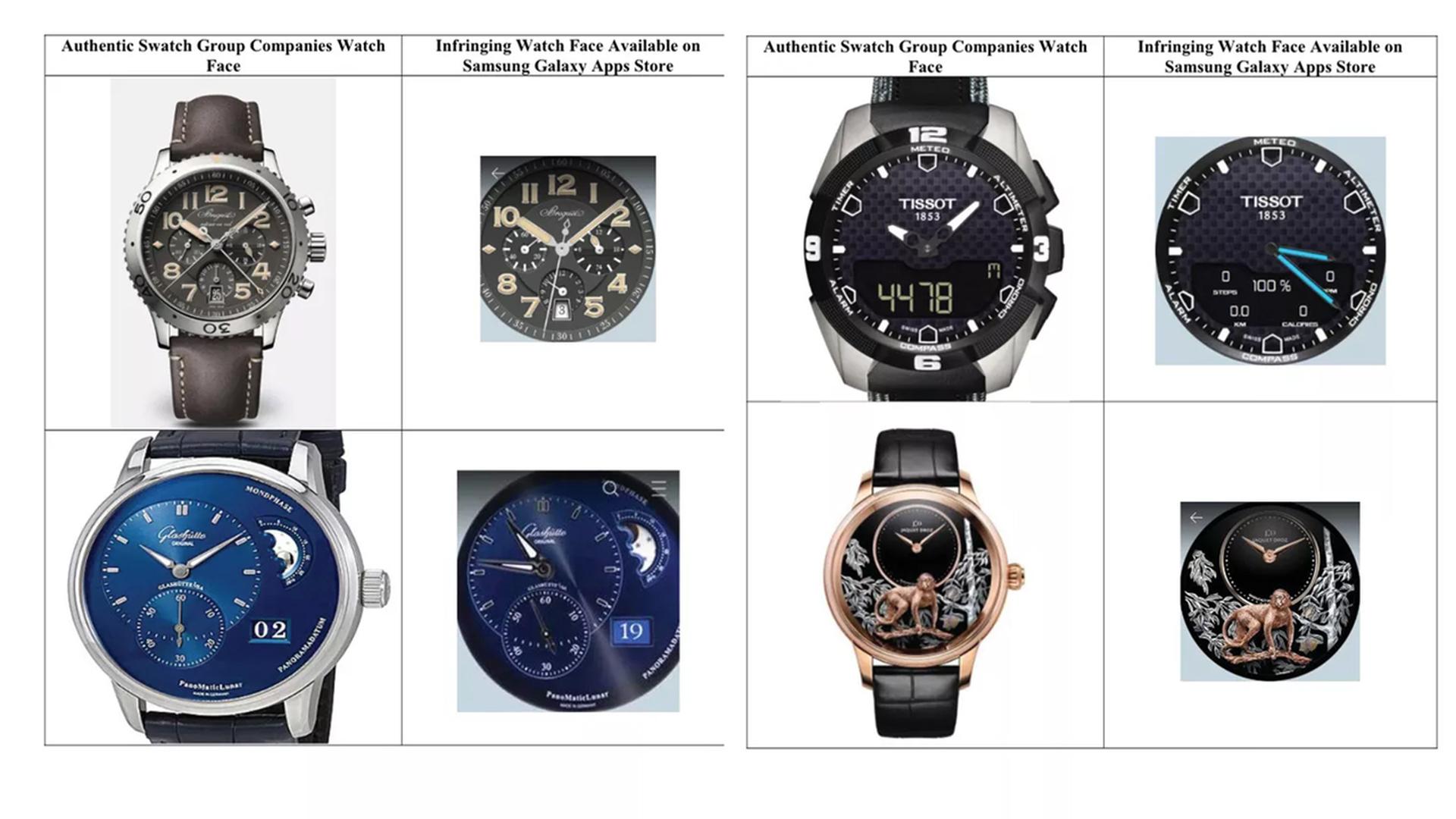 Swatch подала в суд на Samsung за плагиат