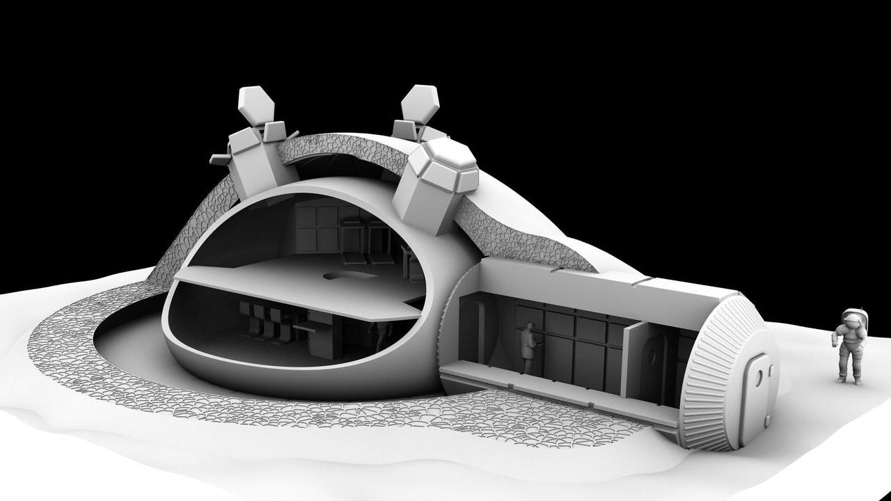 Назван лучший материал для строительства домов на Луне