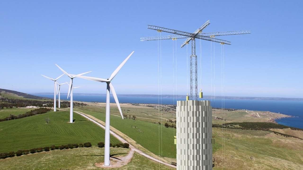 """90-метровый гравитационный """"аккумулятор"""" решит проблемы альтернативной энергетики"""