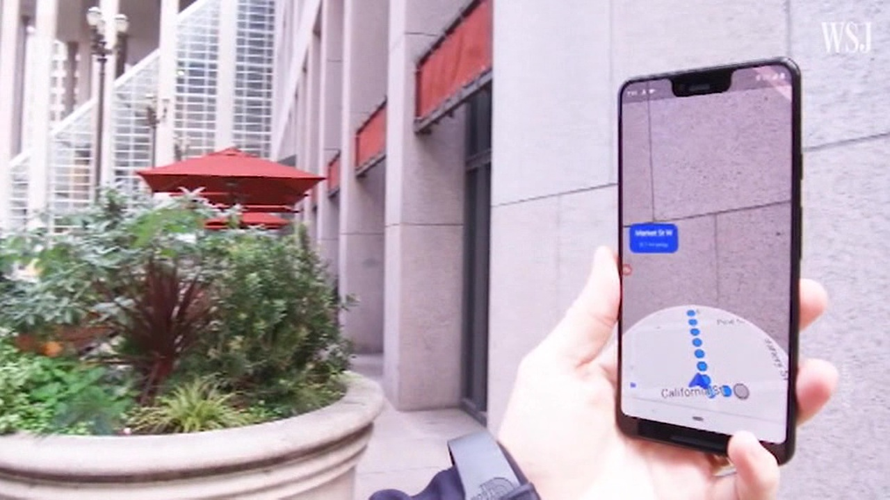 Google Maps тестирует пешеходную навигацию в дополненной реальности