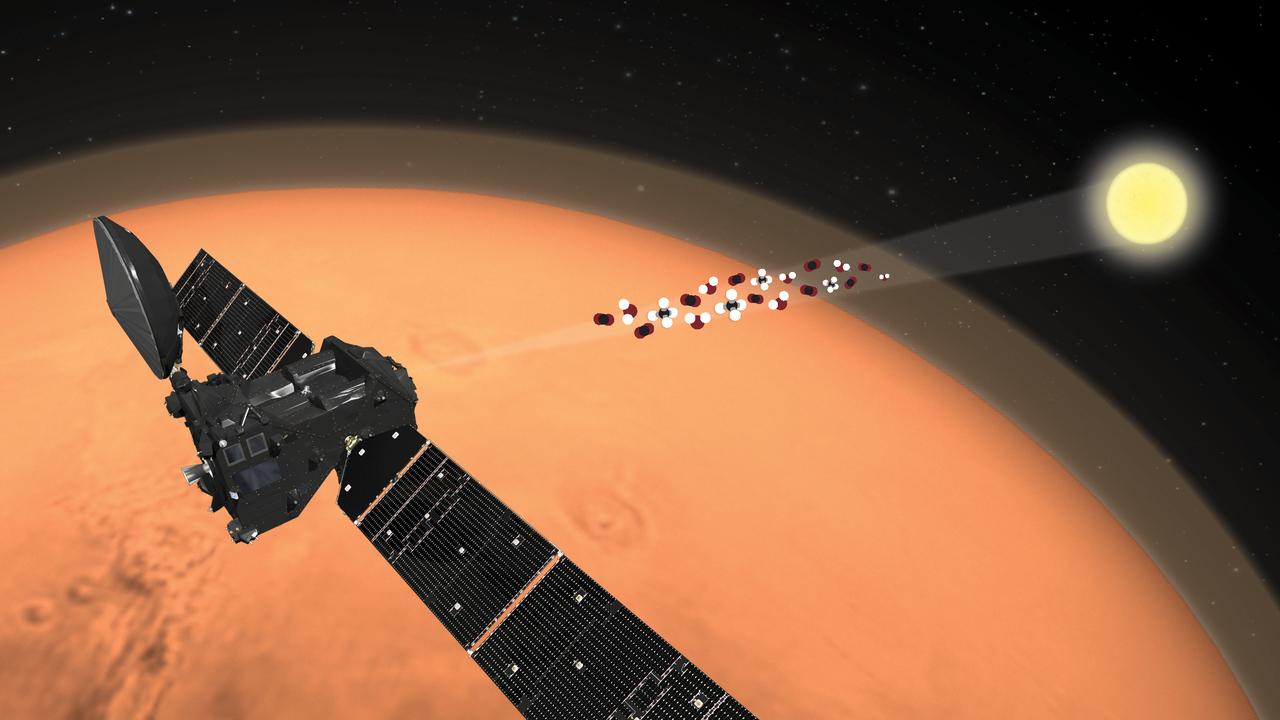 Метан и вода на Марсе: опубликованы итоги первого года работы аппарата TGO ExoMars