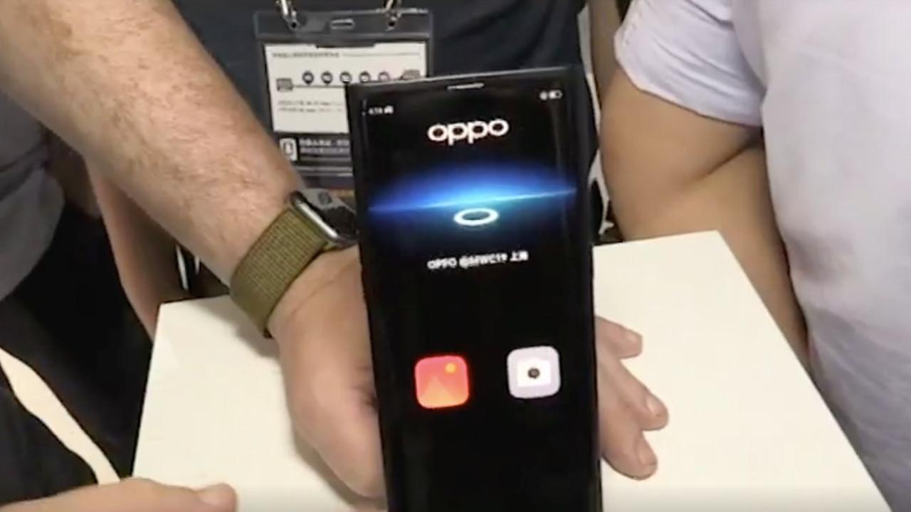Oppo показала смартфон, фотографирующий сквозь экран