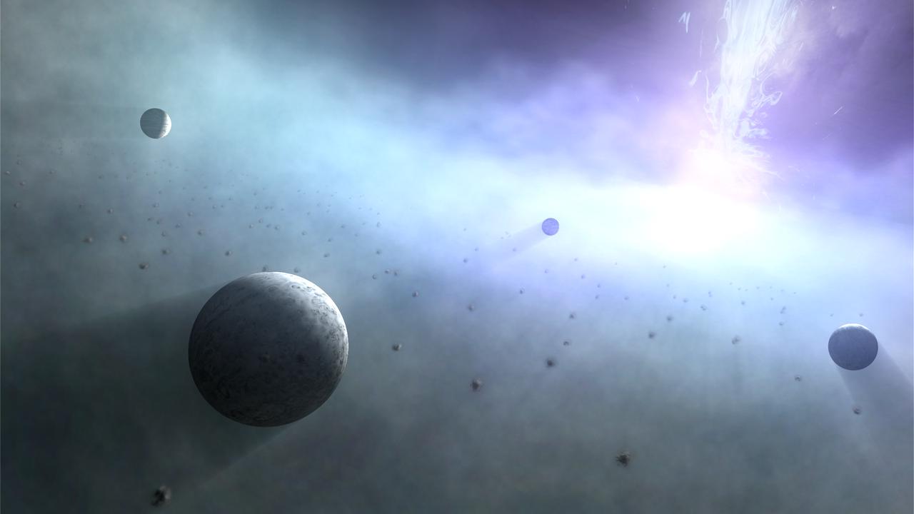 Вокруг сверхмассивных чёрных дыр могут обращаться тысячи суперземель