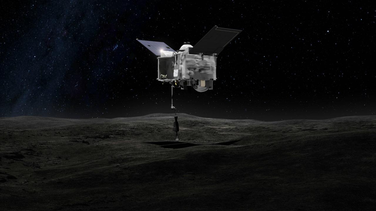 Выбрана площадка для забора грунта на астероиде Бенну