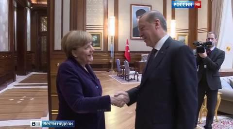 Меркель обвинили в обхаживании деспота Эрдогана