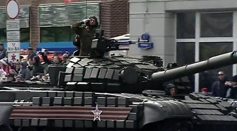 Военный парад, посвященный 72-й годовщине Победы в Великой Отечественной войне 1941-1945 годов. Калининград. Парад Победы