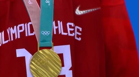 XXIII Зимние Олимпийские игры. Награждение Олимпийских чемпионов по хоккею