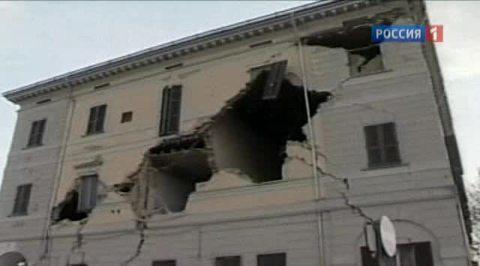 Землетрясение нанесло сильный ущерб культурному наследию Италии
