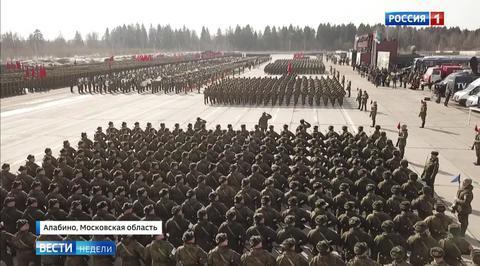 В Алабино прошла репетиция парада Победы