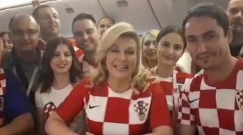 Президент Хорватии поблагодарила Россию по-русски