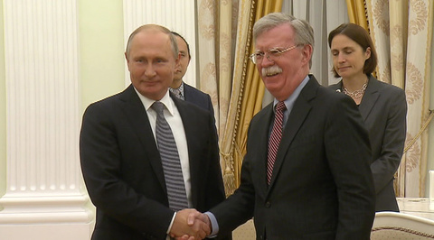 Встреча Владимира Путина с советником президента США Джоном Болтоном