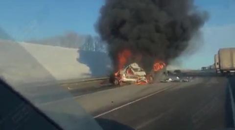 Столкновение трех автомобилей под Воронежем