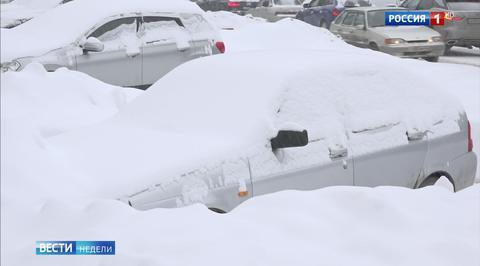 Мощный снегопад в Центральной России:  главный удар пришелся по Москве