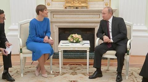Путин принял коллегу из Эстонии Керсти Кальюлайд в Кремле
