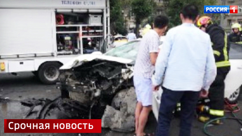 Массовая авария на Кутузовском проспекте: столкнулись 5 автомобилей