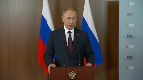 Пресс-конференция Владимира Путина по итогам саммита БРИКС в Бразилии
