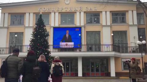 Послание Путина транслировали в аэропортах и на Эльбрусе