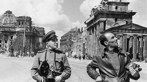 Фото Ильи Аронса, Берлин 1945.