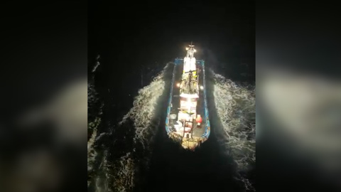 Таран российского судна корейскими рыболовами попал на видео