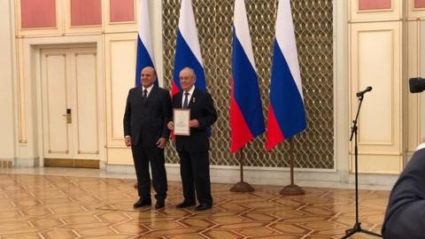Мишустин наградил Шаймиева премией правительства РФ в области культуры