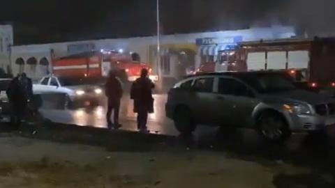 В Липецкой области сгорели 200 квадратных метров торговых павильонов