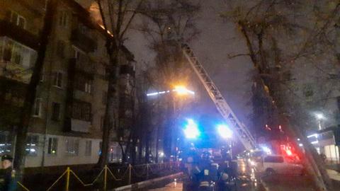 Пожар в Химках: эвакуированы жители двух пятиэтажек