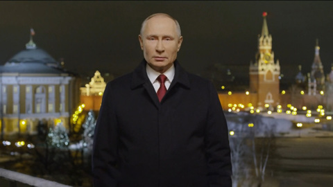 Новогоднее обращение президента Российской Федерации В.В. Путина. Эфир от 31.12.2020