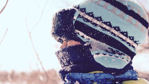 Челябинские школьники из-за мороза остались дома
